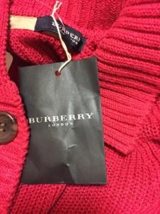 バーバリーロンドン Burberry LONDON カーディガン サイズ1 S レディース ピンク【中古】