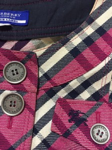 バーバリーブルーレーベル Burberry Blue Label ワンピース サイズ36 S レディース パープル×黒×アイボリー チェック柄【中古】