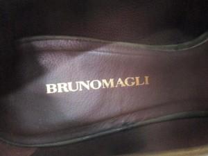 ブルーノマリ BRUNOMAGLI パンプス 35 1/2 レディース ダークグリーン レザー【中古】