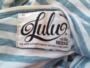 ルルオンザブリッジ LULU ON THE BRIDGE ワンピース レディース ブルー×白 ボーダー【中古】