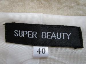 スーパービューティー SUPERBEAUTY コート サイズ40 M レディース アイボリー スパンコール/ショート丈/春・秋物【中古】