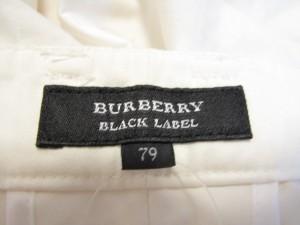 バーバリーブラックレーベル Burberry Black Label ハーフパンツ サイズ79 メンズ 白【中古】