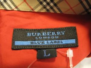 バーバリーブルーレーベル Burberry Blue Label 長袖シャツ サイズL メンズ レッド【中古】