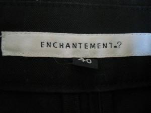 アンシャントマン ENCHANTEMENT...? トレンチコート サイズ40 M レディース 黒 春・秋物【中古】