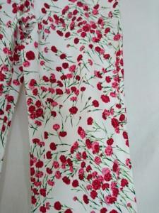ドルチェアンドガッバーナ DOLCE&GABBANA パンツ サイズ46 L レディース 美品 白×レッド×グリーン 花柄【中古】
