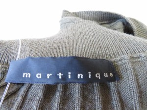 マルティニーク martinique ノースリーブセーター レディース ダークグリーン ハイネック【中古】