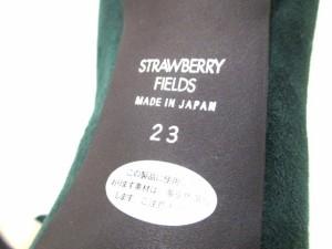 ストロベリーフィールズ STRAWBERRY-FIELDS パンプス 23 レディース グリーン スエード【中古】