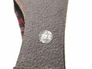 サヴァサヴァ cava cava パンプス レディース 黒×レッド×マルチ チェック柄/ウエッジソール 化学繊維【中古】