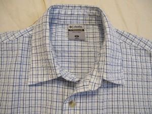 コロンビア columbia 長袖シャツ サイズS メンズ 白×ライトブルー×ブルー チェック柄【中古】