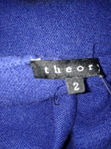 セオリー theory ボレロ サイズ2 S レディース 美品 ブルー【中古】