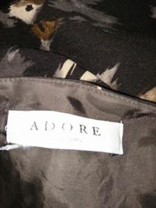 アドーア ADORE ワンピース サイズ38 M レディース 美品 黒×ブラウン×グレー【中古】