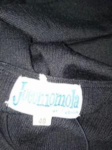 ホコモモラ JOCOMOMOLA カーディガン サイズ40 XL レディース 美品 黒 de sybilla【中古】