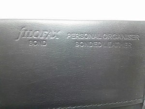 ファイロファックス Filofax 手帳 新品同様 BOND 黒 バイブルサイズ 合皮【中古】