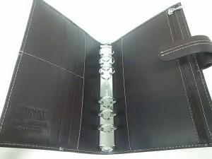 ファイロファックス Filofax 手帳 美品 CLASSIC ダークブラウン バイブルサイズ レザー【中古】