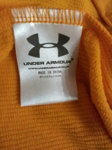 アンダーアーマー UNDER ARMOUR ジャージ メンズ 美品 オレンジ×白 プルオーバー【中古】