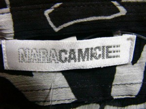 ナラカミーチェ NARACAMICIE 長袖シャツブラウス サイズMI レディース 黒×白 シースルー【中古】