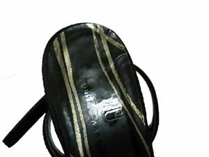 ユナイテッドアローズ UNITED ARROWS サンダル 36 レディース 黒 オープントゥ/アウトソール張替済 レザー×スエード【中古】