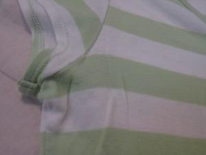 バーバリーブルーレーベル Burberry Blue Label 半袖Tシャツ サイズ38 M レディース ライトグリーン×白 ボーダー【中古】