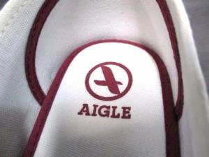 エーグル AIGLE スニーカー レディース 美品 ボルドー×白 スエード【中古】