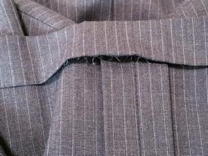 ポールスチュアート PaulStuart シングルスーツ メンズ グレー×ライトブルー ネーム刺繍/ストライプ【中古】