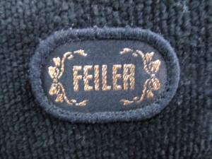 フェイラー FEILER ハンドバッグ 黒×パープル×マルチ フラワー/プラスチックハンドル パイル×プラスチック【中古】