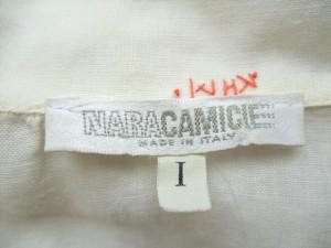 ナラカミーチェ NARACAMICIE 七分袖シャツブラウス サイズ1 S レディース アイボリー レース【中古】