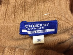 バーバリーブルーレーベル Burberry Blue Label 半袖セーター サイズ38 M レディース ライトブラウン タートルネック【中古】