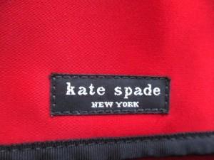 ケイトスペード Kate spade ショルダーバッグ レッド×黒 ナイロン【中古】
