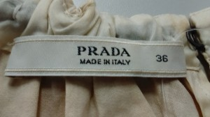 プラダ PRADA ノースリーブカットソー サイズ36 S レディース 美品 アイボリー×黒 リボン【中古】