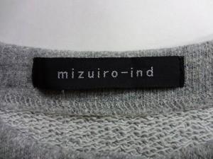 ミズイロインド mizuiro  ind ワンピース レディース 新品同様 グレー 毛 8%【中古】