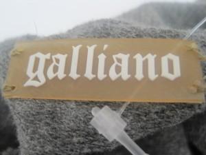 ガリアーノ galliano ミニスカート サイズxxs XS レディース グレー ビーズ【中古】