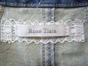 ローズティアラ Rose Tiara Gジャン サイズ42 L レディース ネイビー ジップアップ/春・秋物【中古】