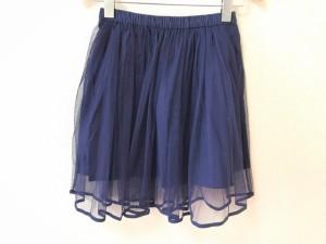 ロイスクレヨン Lois CRAYON スカート サイズM レディース 美品 ネイビー チュール【中古】