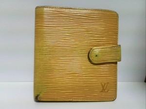 ルイヴィトン LOUIS VUITTON 2つ折り財布 エピ ポルト ビエ・コンパクト M63559 ジョーヌ レザー【中古】