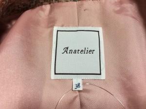 アナトリエ anatelier コート サイズ38 M レディース ピンク×ライトグレー×マルチ 冬物【中古】