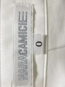 ナラカミーチェ NARACAMICIE 半袖シャツブラウス サイズ0 XS レディース 白 フリル【中古】