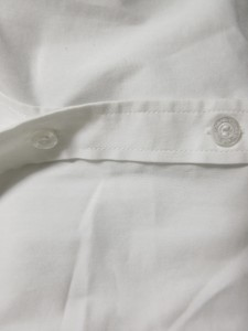 ナラカミーチェ NARACAMICIE 半袖シャツブラウス サイズ0 XS レディース 白 襟ストライプ【中古】