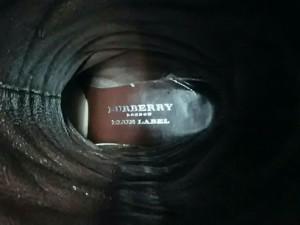 バーバリーブルーレーベル Burberry Blue Label ロングブーツ 23 レディース 美品 ブラウン 編み込み レザー【中古】