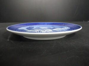 ロイヤルコペンハーゲン ROYAL COPENHAGEN プレート 新品同様 ブルー×ライトブルー×アイボリー 1997 陶器【中古】