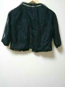 ルルロジェッタ Leur Logette ジャケット サイズ1 S レディース 黒 フェイクパール【中古】