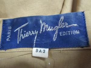 ティエリーミュグレー Thierry Mugler ジャケット サイズ9 M レディース ライトブラウン 肩パッド【中古】