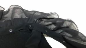 トゥービーシック TO BE CHIC カーディガン サイズ2 M レディース 美品 黒 フリル【中古】