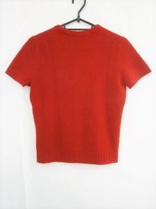 バーバリーブルーレーベル Burberry Blue Label 半袖セーター サイズM レディース 美品 レッド【中古】