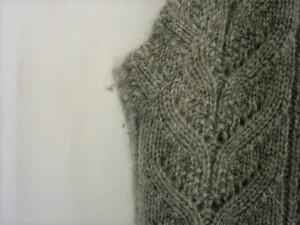 ラルフローレン RalphLauren ノースリーブセーター サイズS  S レディース 美品 グレー 透かし編み/タートルネック【中古】