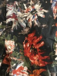 ソブ ダブルスタンダード SOV. パンツ サイズ36 S レディース 新品同様 ダークグレー×レッド×マルチ 花柄【中古】