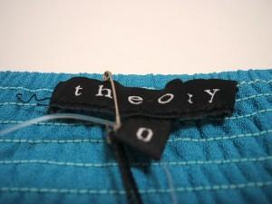 セオリー theory スカート サイズ0 XS レディース ブルー【中古】