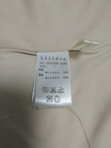 リリディア Lilidia ワンピース サイズ1 S レディース 美品 ベージュ×ライトブルー×マルチ【中古】