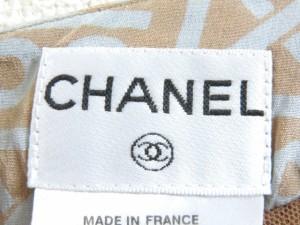 シャネル CHANEL スカート サイズ40 M レディース ベージュ×グレー【中古】