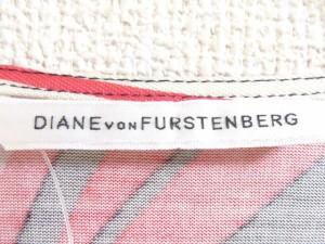 ダイアン・フォン・ファステンバーグ ワンピース サイズ2 S レディース 美品 ピンク×アイボリー×マルチ カシュクール【中古】