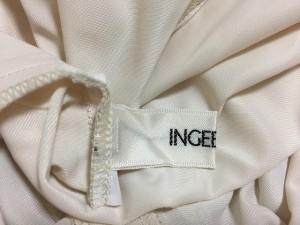 インゲボルグ INGEBORG ロングスカート サイズ9 M レディース 美品 ベージュ×アイボリー ドット柄/フリル【中古】